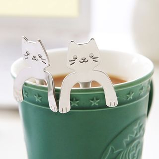 Cat-Shaped Stainless Steel Coffee Spoon from Cute Essentials