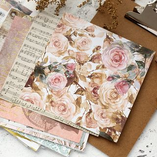 Metallic Print Diary Background Paper from Cute Essentials