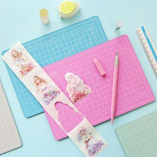 Set: A5 Cutting Mat + Cutter + Ruler + Replacement Blade from Cute Essentials