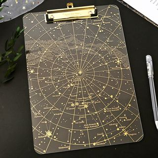 Star Map Print A4 Clipboard As Shown In Figure - One Size from Cute Essentials