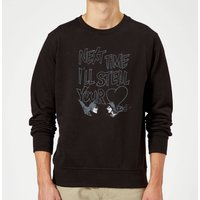 Batman Steal Your Heart Sweatshirt - Black - L - Black from DC Comics