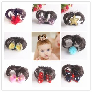 Baby Flower / Bow-accent Hair Fringe from DEBE