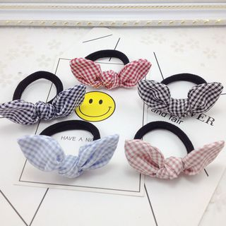 Plaid Bow Hair Tie from DEBE