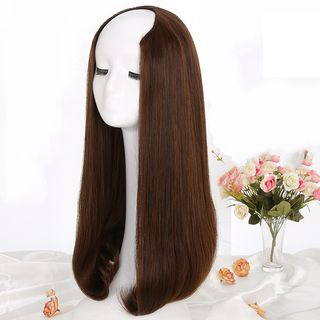 Straight Long Half Wig from DEBE