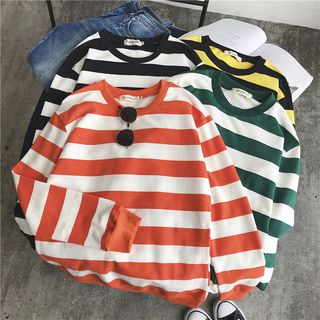 Couple Matching Striped Sweatshirt from Deepwood