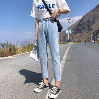Crop Straight Fit Jeans from Denimot