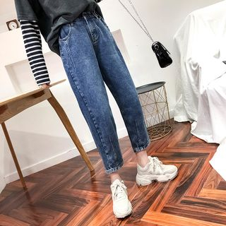 Cropped Straight-Cut Jeans from Denimot
