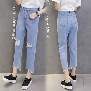 Cropped Straight Fit Jeans from Denimot