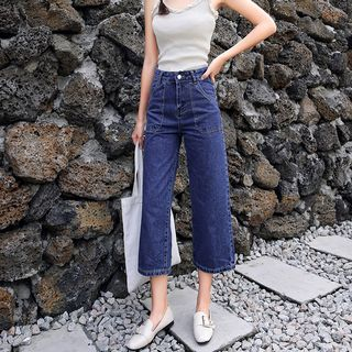 Cropped Wide-Leg Jeans from Denimot