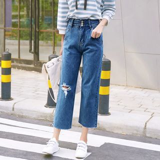 Cropped Wide Leg Jeans from Denimot