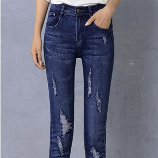 Distressed Skinny Jeans from Denimot