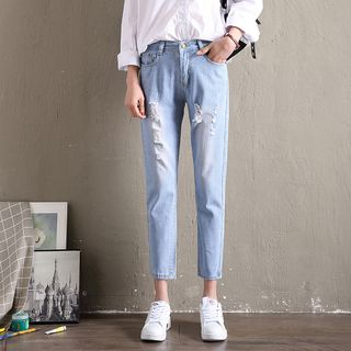 Distressed Slim-Fit Jeans from Denimot