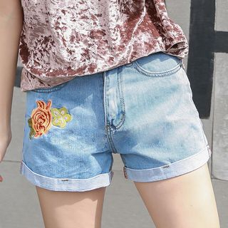 Embroidered Denim Shorts from Denimot