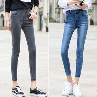 High-Waist Cropped Skinny Jeans from Denimot