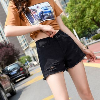 Rip Denim Shorts from Denimot