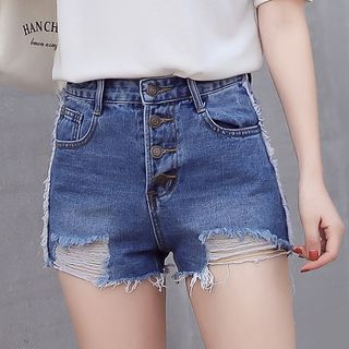 Ripped Denim Shorts from Denimot