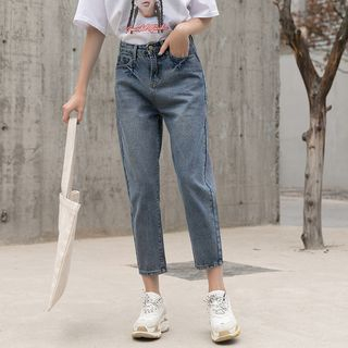 Washed Cropped Jeans from Denimot