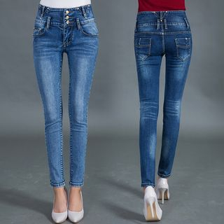 Washed Skinny Jeans from Denimot