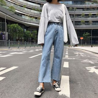 Washed Wide-Leg Jeans from Denimot