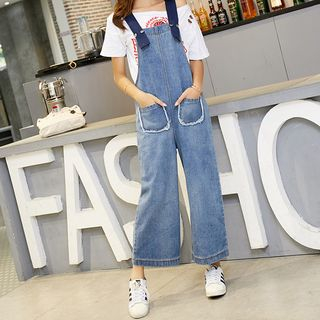 Wide Leg Denim Dungaree from Denimot