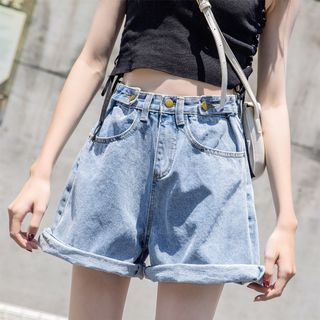 Wide-Leg Denim Shorts from Denimot