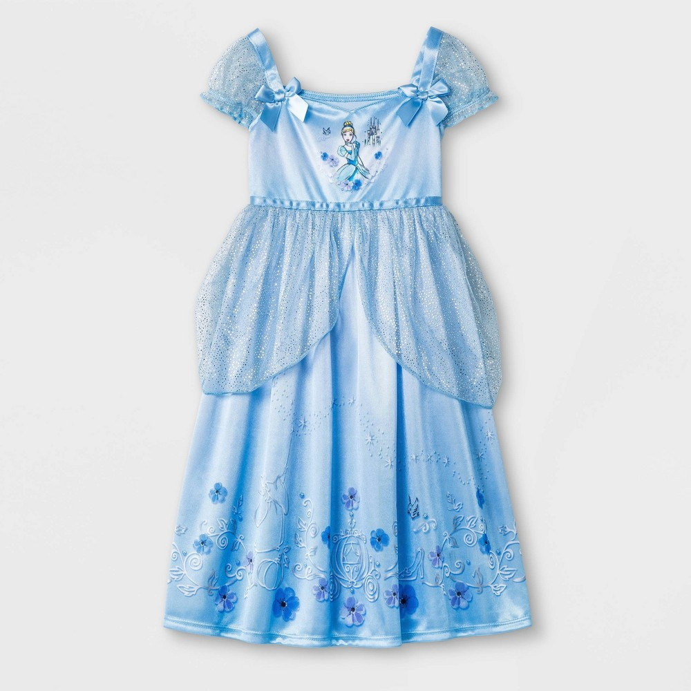 Toddler Girls' Cinderella Fantasy Nightgown - Blue 3T from Disney Princess