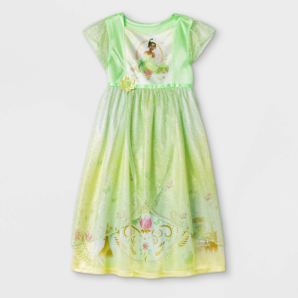 Toddler Girls' Tiana Fantasy Nightgown - Green 2T from Disney Princess