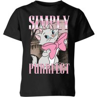 Disney Aristocats Simply Purrfect Kids' T-Shirt - Black - 5-6 Years - Black from Disney