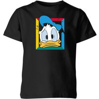 Disney Donald Face Kids' T-Shirt - Black - 9-10 Years - Black from Disney