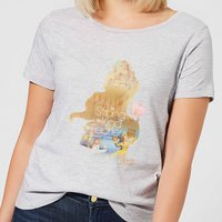 Disney Princess Filled Silhouette Belle Women's T-Shirt - Grey - XXL - Grey from Disney
