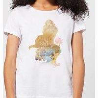 Disney Princess Filled Silhouette Belle Women's T-Shirt - White - XXL - White from Disney
