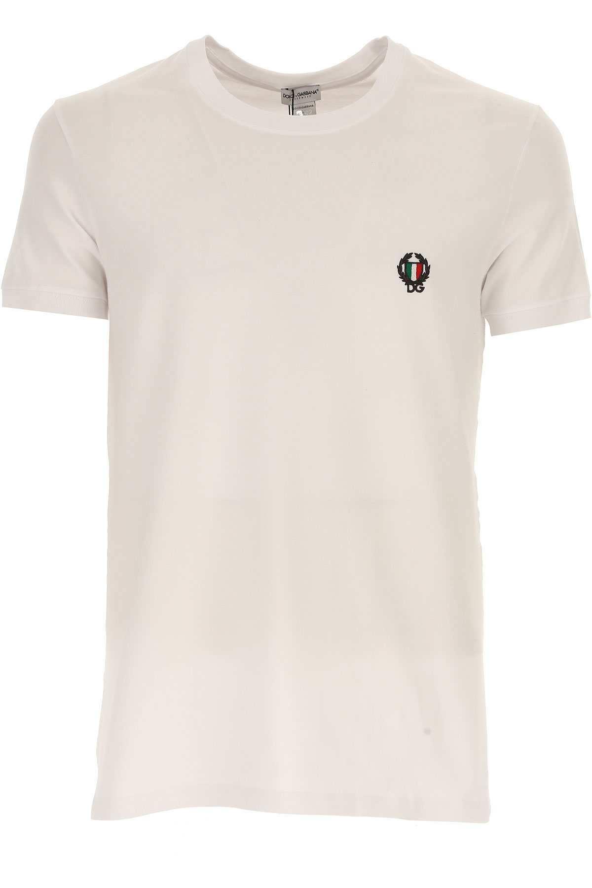 Dolce & Gabbana T-Shirt for Men, White, Cotton, 2021, L M S XS from Dolce & Gabbana