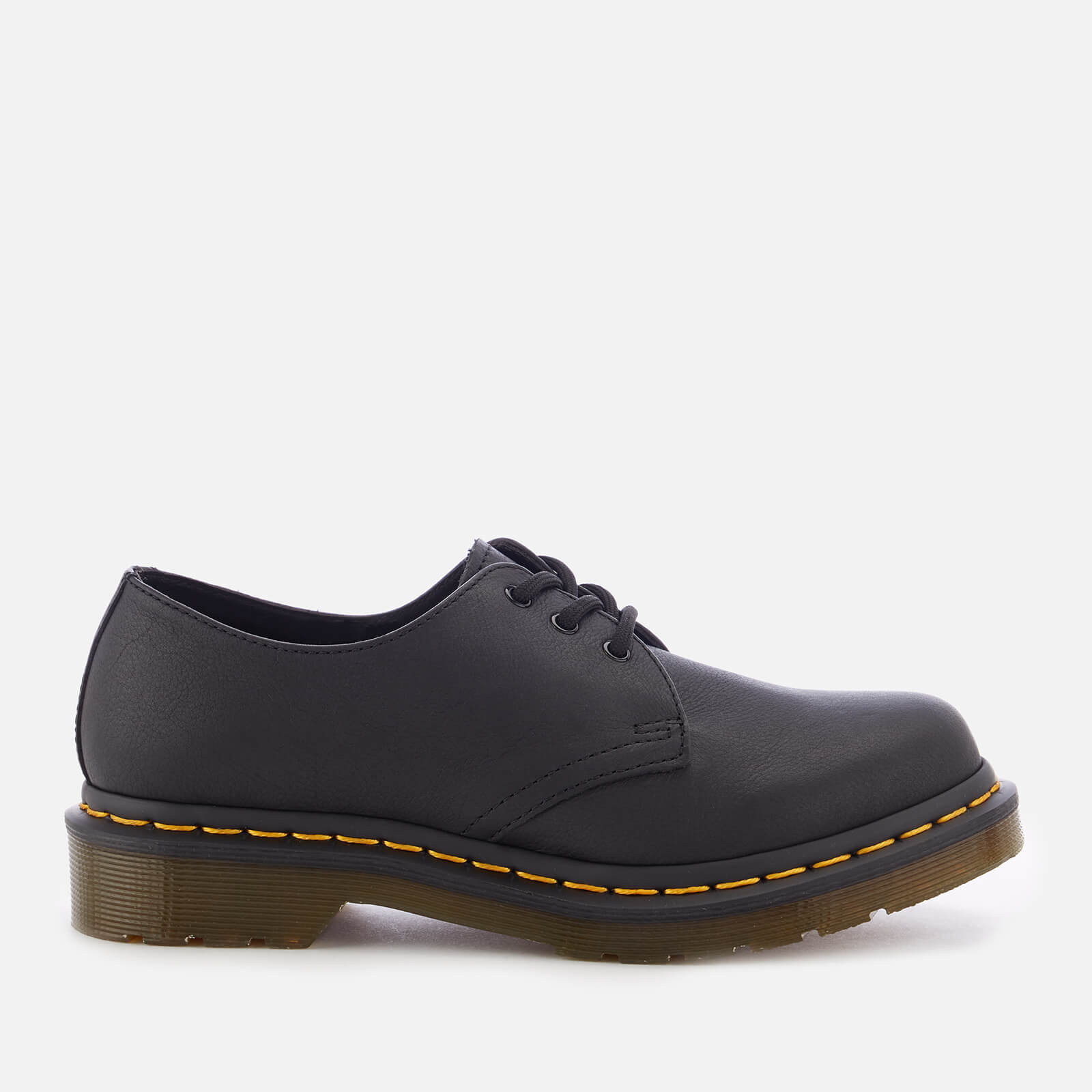 Dr. Martens Women's 1461 W Virginia Leather 3-Eye Shoes - Black - UK 8 - Black from Dr. Martens