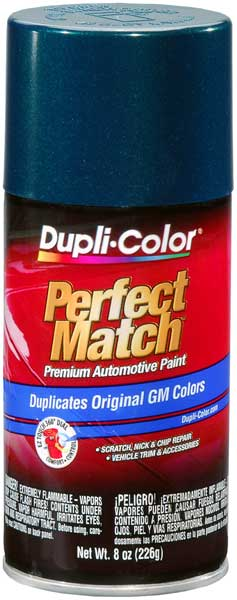 GM Metallic Emerald Green Auto Spray Paint - 43 (1996-2000) from Dupli-Color