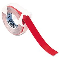 "Self-Adhesive Glossy Labeling Tape for Embossers, 3/8"" x 12 ft. Roll, Red from Dymo"
