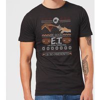 E.T. the Extra-Terrestrial Be Good or No Presents Men's T-Shirt - Black - M - Black from E.T. the Extra-Terrestrial