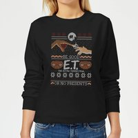E.T. the Extra-Terrestrial Be Good or No Presents Women's Sweatshirt - Black - M - Black from E.T. the Extra-Terrestrial