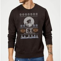 E.T. the Extra-Terrestrial Christmas Sweatshirt - Black - XXL - Black from E.T. the Extra-Terrestrial