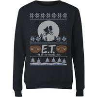 E.T. the Extra-Terrestrial Christmas Women's Sweatshirt - Black - 5XL - Black from E.T. the Extra-Terrestrial