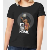 ET E.T. Phone Home Women's T-Shirt - Black - L - Black from E.T. the Extra-Terrestrial