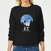 ET Moon Silhouette Women's Sweatshirt - Black - L - Black from E.T. the Extra-Terrestrial