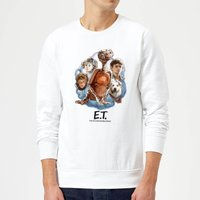 ET Painted Portrait Sweatshirt - White - L - White from E.T. the Extra-Terrestrial
