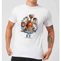 ET Painted Portrait T-Shirt - White - XL - White from E.T. the Extra-Terrestrial