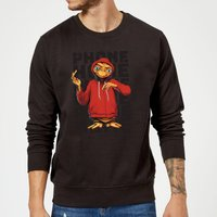 ET Phone Home Stylised Sweatshirt - Black - XXL - Black from E.T. the Extra-Terrestrial