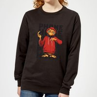 ET Phone Home Stylised Women's Sweatshirt - Black - L - Black from E.T. the Extra-Terrestrial