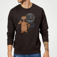 ET Where Are You From Sweatshirt - Black - M - Black from E.T. the Extra-Terrestrial
