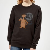 ET Where Are You From Women's Sweatshirt - Black - S - Black from E.T. the Extra-Terrestrial