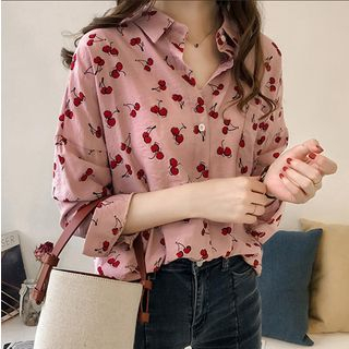 Cherry Print Shirt from EFO