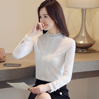 Lace Long-Sleeve Top from EFO