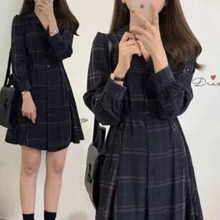 Plaid Shirt Dress from EFO